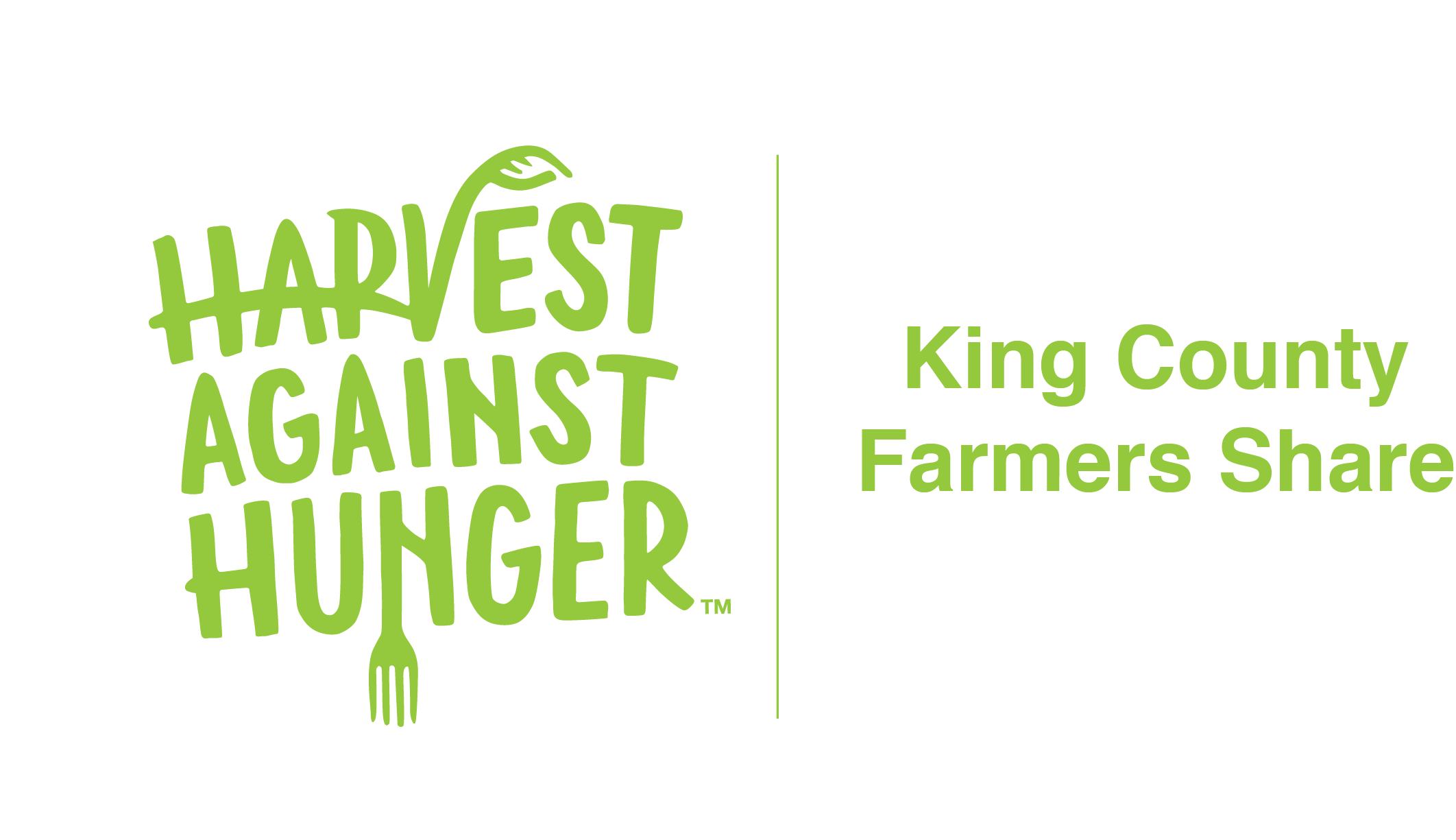 Logo for Harvest Against Hunger program King County Farmers Share